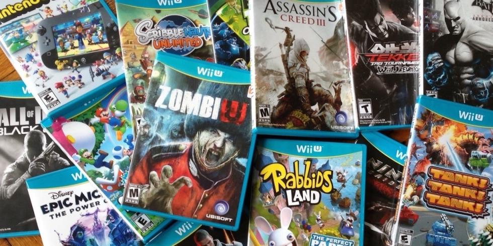 Wii U -pelejä konsolin julkaisun aikaan