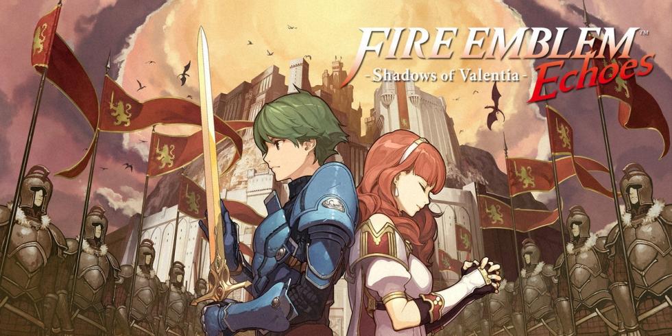 Fire Emblem Echoes: Shadows of Valentia banneri