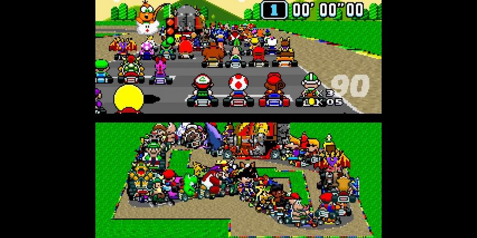 Super Mario Kart 101 kuskia Youtube pikseleitä