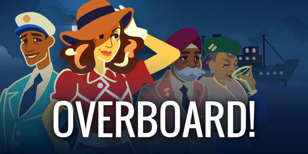 overboard nostokuva logolla varustettuna