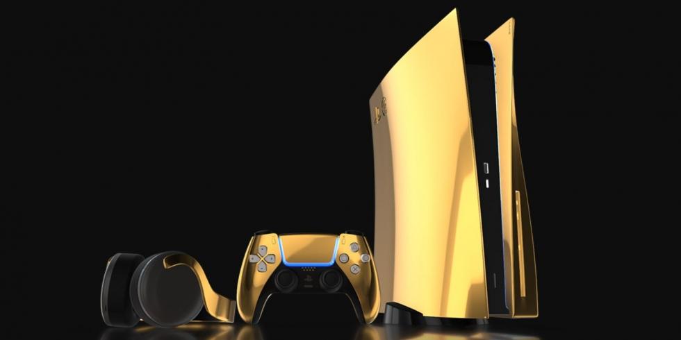 Truly Exquisite Golden PS5