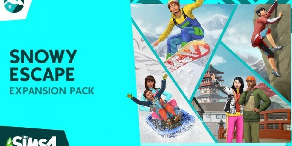 The Sims 4 Lumisten vuorten maa Snowy escape dlc