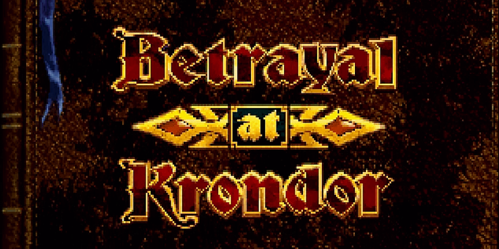 Betrayal at Krondor kirjankansi