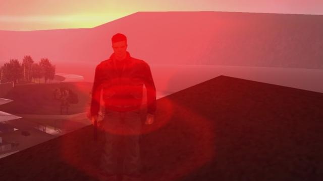 Aurinko värjää Liberty Cityn taivaan verenpunaiseksi