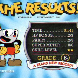 Cuphead results