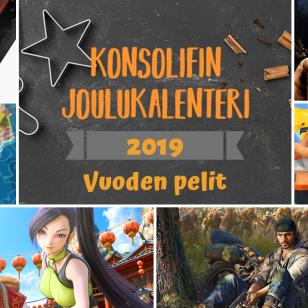 KonsoliFIN Joulukalenteri 2019 vuoden pelit