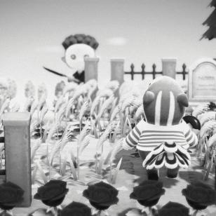 Animal Crossing: New Horizons halloween Antonio ja kohtaaminen hautausmaalla