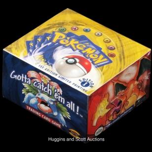 Pokémon kortteja avaamaton paketti huutokaupassa
