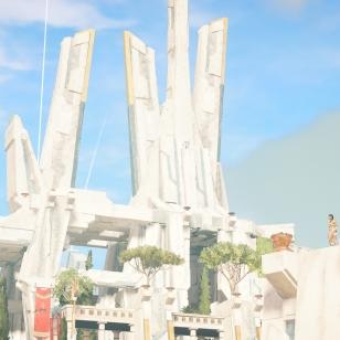 Assassin's Creed Odyssey Kassandra ihailee maisemia.jpg