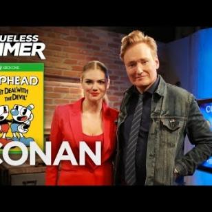 Conan Kate Upton Clueless Gamer Cuphead