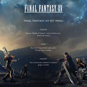 Final Fantasy XV Jamie Oliver menu
