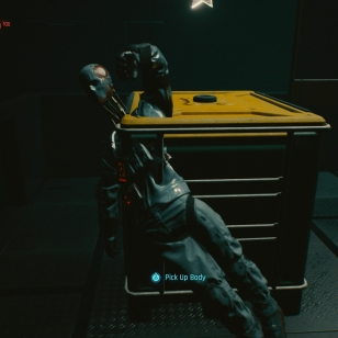 Cyberpunk 2077 vihollinen laatikossa