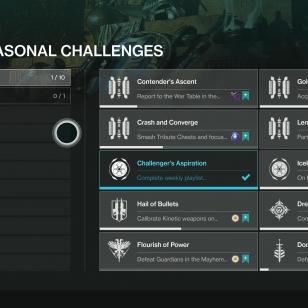 Destiny 2 - Uuden vuodenajan haasteet