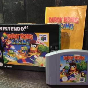 Diddy Kong Racing kotelo ja kasetti ja ohjeet