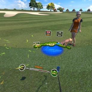 Everybody's Golf VR - Tarkastetaan tuulen suunta