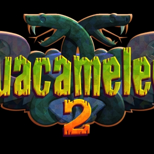 Guacemelee! 2 logo mustalla pohjalla