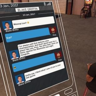 NBA 2K17: Kas, tekstari Blake Griffiniltä. Hengataan vaan! Joskus.