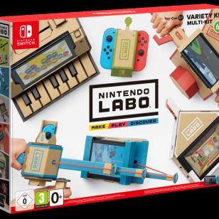 Nintendo Labo pahvia Switch ja leikkiä