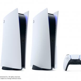 PS5 PlayStation 5 konsoli molemmat versiot ja DualSense-ohjain.jpg