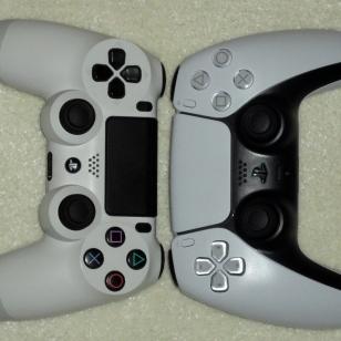 PS5 uusi ja vanha ohjain
