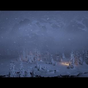 Red Dead Redemption 2 - Länkkkärit ratsastavat lyhdynvalossa lumisessä yössä