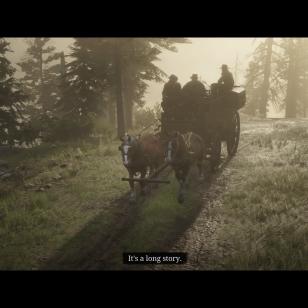 Red Dead Redemption 2 - Vankkurit utuisessä metsässä