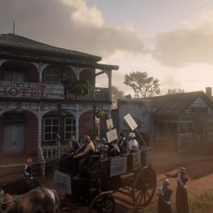 Red Dead Redemption 2 - Arthur auttaa suffragetteja