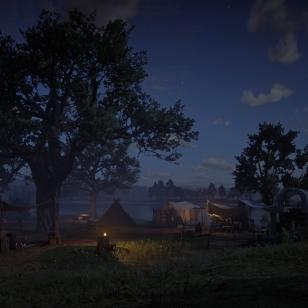 Red Dead Redemption 2 - Öinen leiri järven rannalla