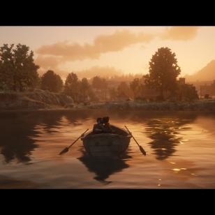 Red Dead Redemption 2 - Romanttinen hetki järvellä soutaessa