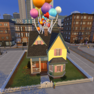 The Sims 4 Up creation