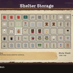 Inventaari mallia bunkkerin varasto.