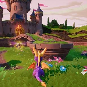 Spyro Reignited Trilogy nurmea ja linnaa