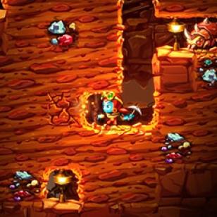 SteamWorld Dig 2 Nintendo 3DS kaivos