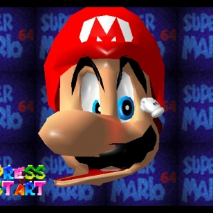 Super Mario 64 intro ruutu title