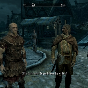The Elder Scrolls V Skyrim Switch dialogi ja hag