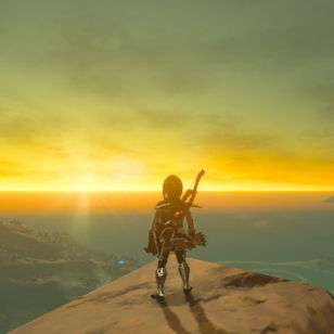 The Legend of Zelda Breath of the Wild auringonlasku auringonnousu