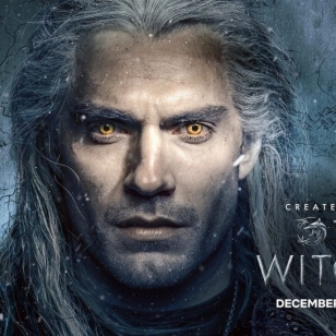 The Witcher Netflix Henry Cavill banneri