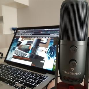 Thronmax Mdrill One äänenvoimakkuuden säädöt