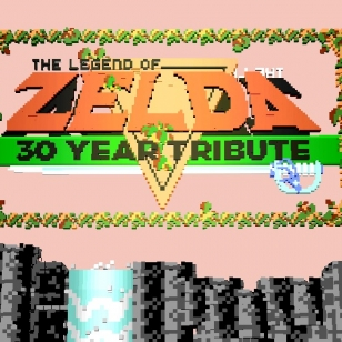 The Legend of Zelda vokselisivusto huom ei pelin oikea logo