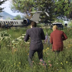GTA V Online lentokone