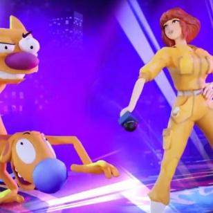 Nickelodeon All-Star Brawl April Catdog