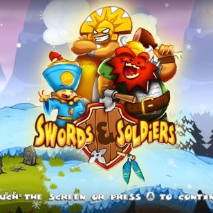 Swords & Soldiers menu valikko