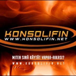 Uusi Konsolifin-logo, slogan ja taustakuva