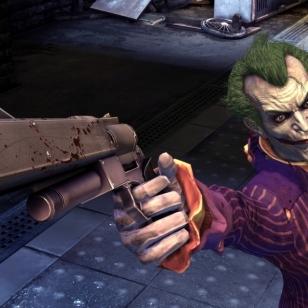 Jokeri pelattavana Arkham Asylumin PS3-versiossa