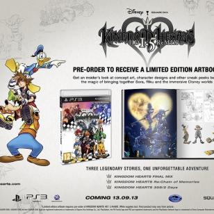 Kingdom Heartsin HD-kokoelman ennakkotilaajille taidekirja