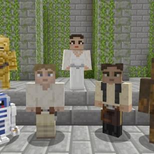 Star Wars -hahmot laskeutuivat Minecraftiin