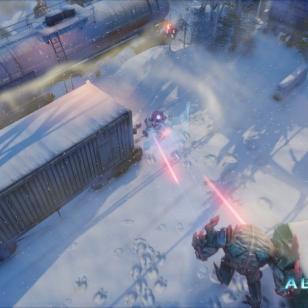 Videokuvaa Housemarquen Alienation-pelistä