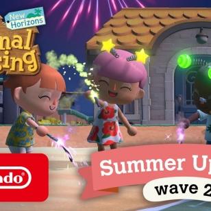 Animal Crossing: New Horizons kesäpäivitys 2 ilotulitteet