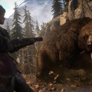 Rise of the Tomb Raider PS4 lara ja karhu