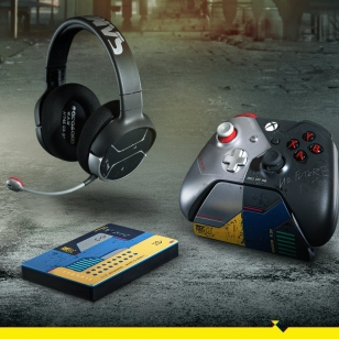 Cyberpunk 2077 Limited Edition Controller, Headset, and Seagate Drive Xbox